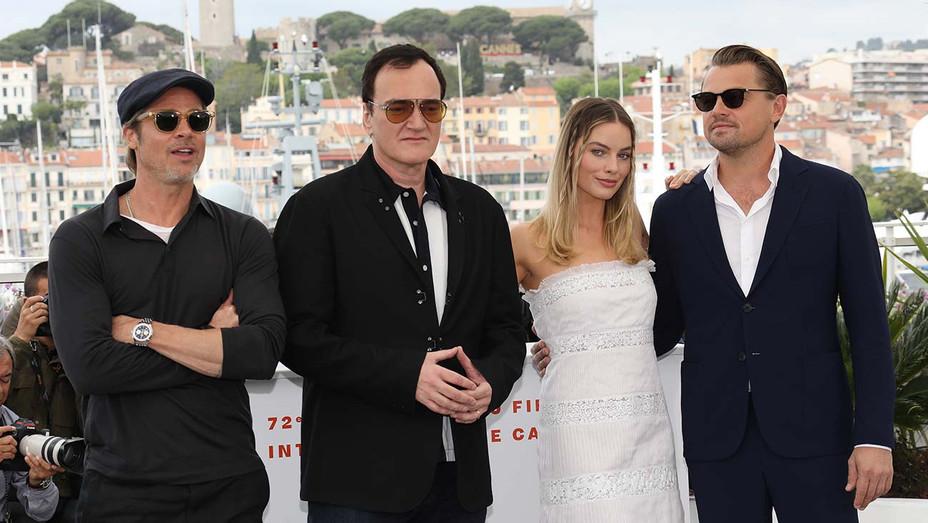 Brad Pitt, Quentin Tarantino, Margot Robbie and Leonardo DiCaprio_ - Getty - H 2019