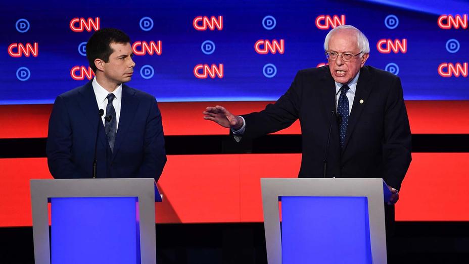 CNN Democratic Debate Round 2 Part 1_Pete Buttigieg_Bernie Sanders - Getty - H 2019