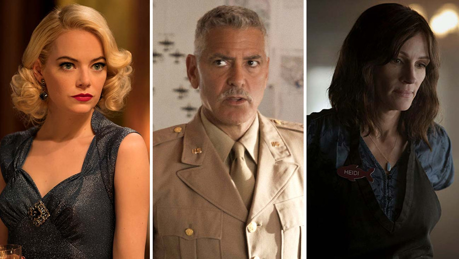 Emma Stone in MANIAC, George Clooney in CATCH-22 and Julia Roberts in HOMECOMING-Publicity Stills-Split-H 2019