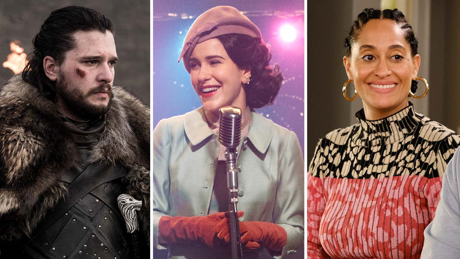 Game of Thrones, Mrs Maisel and Tracee Ellis Ross in Black-ish-Publicity Stills-Split-H 2019