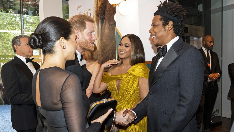 Beyonce Jay-Z Meghan Harry at Lion King U.K. Premiere - H Getty 2019
