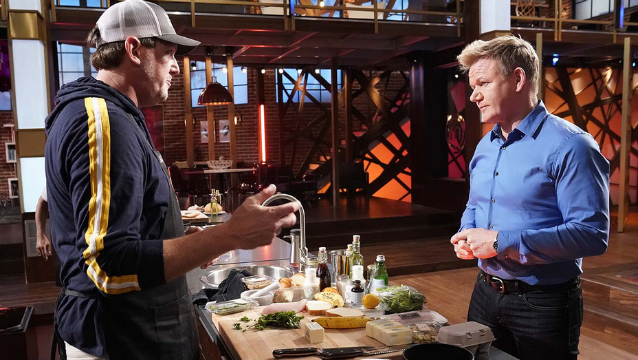 Someone's Toast episode of MASTERCHEF - Contestant Jamie with host chef Gordon Ramsay- Publicity-H 2019