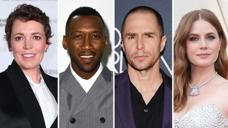 Olivia Colman, Mahershala Ali, Sam Rockwell, and Amy Adams-Getty-Split-H 2019