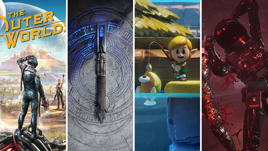 Outer Worlds, Star Wars Jedi- Fallen Order, The Legend of Zelda- Link's Awakening and Wolfenstein- Youngblood_Split - Publicity - H 2019
