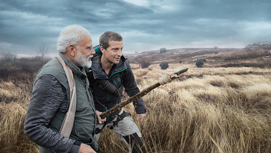 PM Modi with Bear Grylls- Man Vs Wild India-Discovery Channel Publicity -H 2019