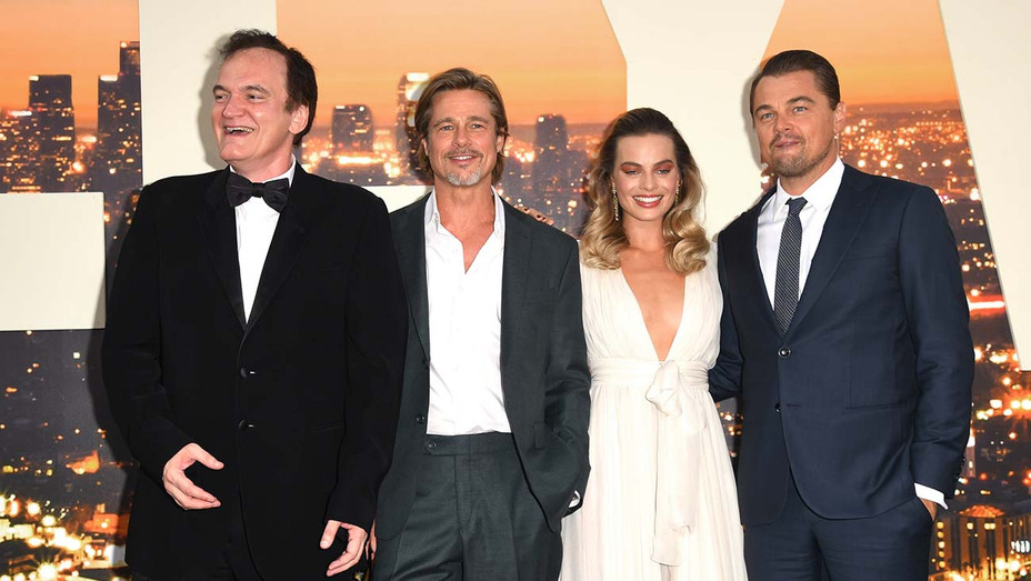 Quentin Tarantino, Brad Pitt, Margot Robbie and Leonardo DiCaprio - Getty - H 2019