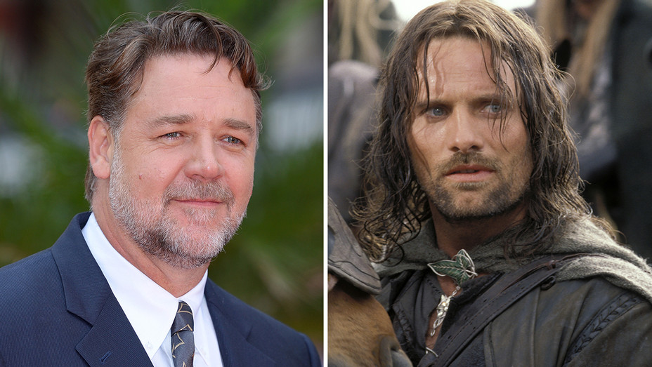 Russell Crowe Viggo Mortensen as Aragorn Split - Photofest - H 2019