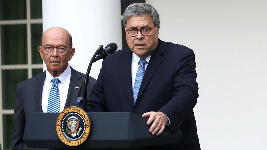 Secretary of Commerce Wilbur Ross -Attorney General William Barr -Getty-H 2019