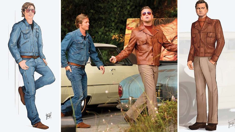 Style Costumes Brad  and Leo sketch- Publicity-H 2019