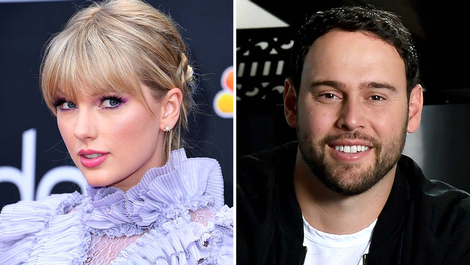 Taylor Swift and Scooter Braun -Getty-Split-H 2019