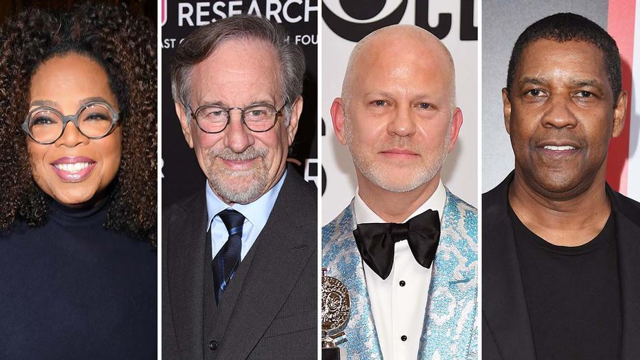 Winfrey, Spielberg, Ryan Murphy, Denzel Washington_Split - Getty - H 2019