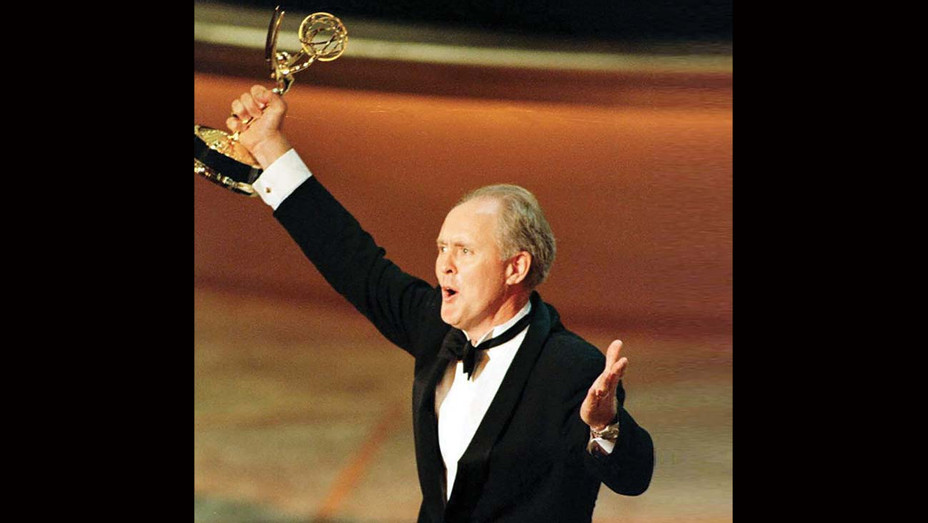 John Lithgow holds his Emmy Award aloft at the 48th Annual Primetime Emmy Awards 08 September -Getty-H 2019