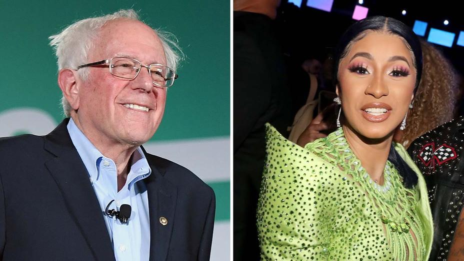 Bernie and Cardi B - Getty-H 2019