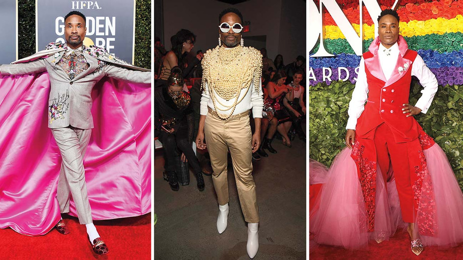 Billy Porter Red Carpet Looks_Split - Getty - H 2019