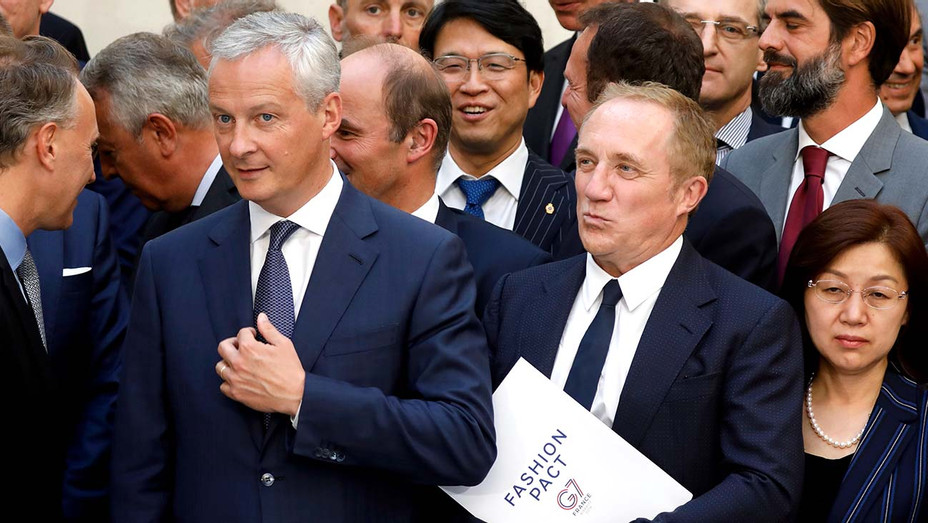 French Finance Minister Bruno Le Maire- CEO of Kering, Francois-Henri Pinault- Getty - H 2019