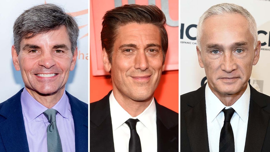George Stephanopoulos - David Muir - Jorge Ramos - Getty-Split-H 2019