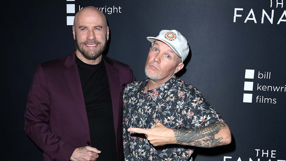 John Travolta and Fred Durst  arrives at the Premiere Of Quiver Distribution's The Fanatic - Getty-H 2019