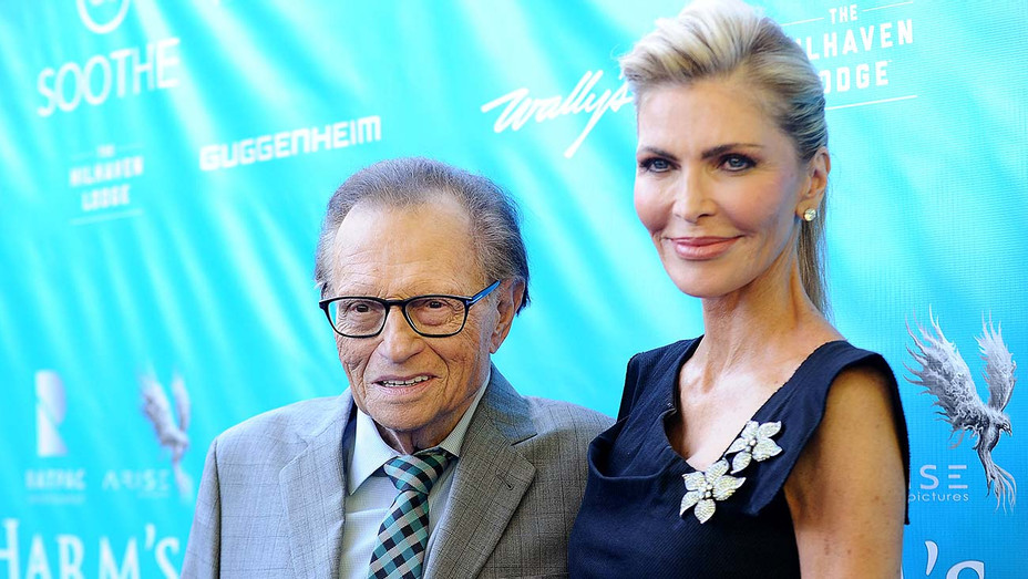 Larry King and wife Shawn King - UN Secretary-General Ban Ki-moon Event - Getty-H 2019