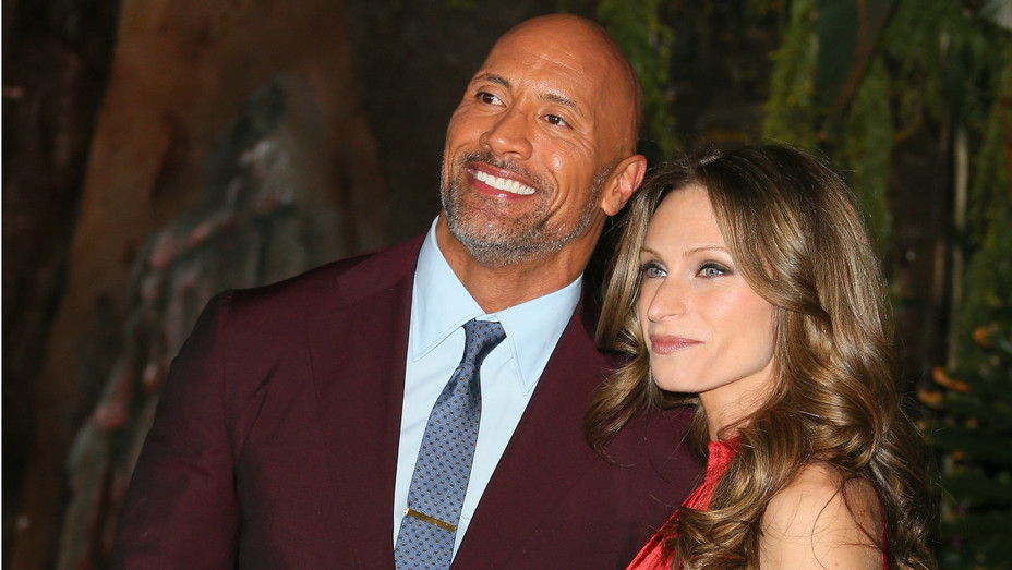 Dwayne Johnson and Lauren Hashian - Getty - H 2019