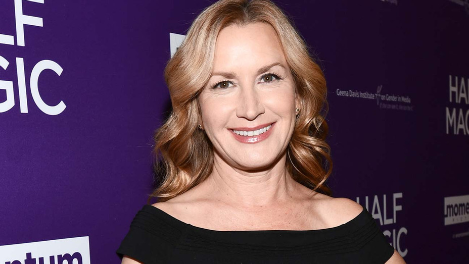 Angela Kinsey attends the premiere of Momentum Pictures' Half Magic - Getty-H 2019