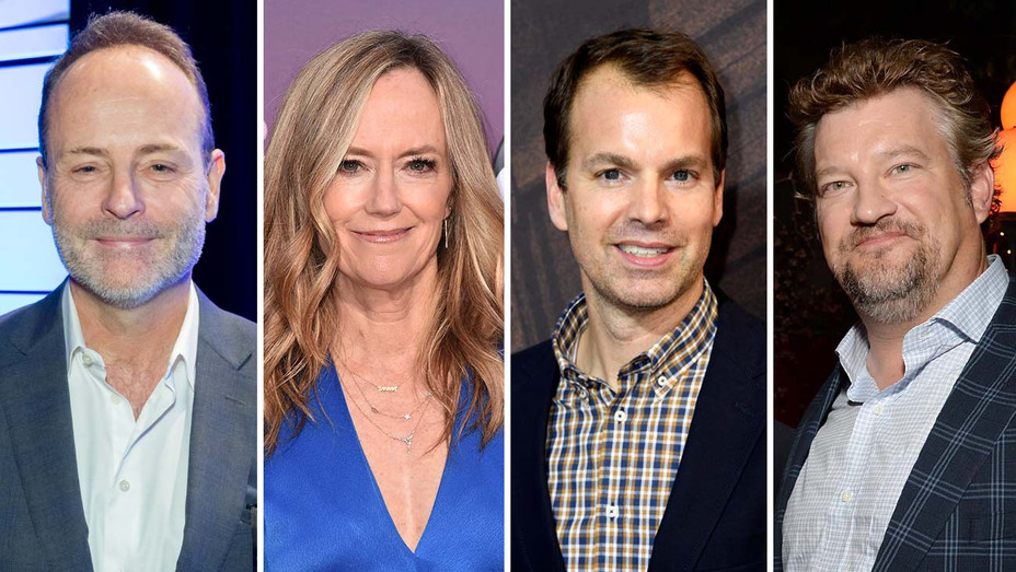 John Landgraf, Karey Burke, Casey Bloys and Kelly Kahl-Getty-Split-H 2019