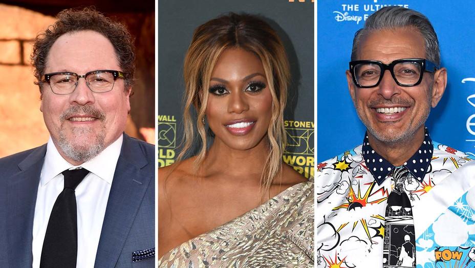 Jon Favreau, Laverne Cox and Jeff Goldblum - Getty-H 2019