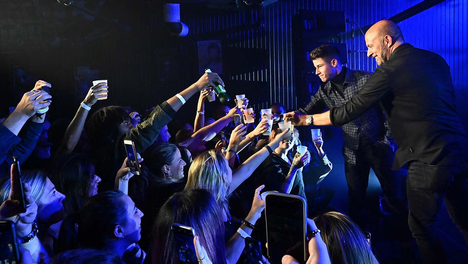 Nick Jonas and John Varvatos - Villa One Tequila Launch Party - Getty-H 2019