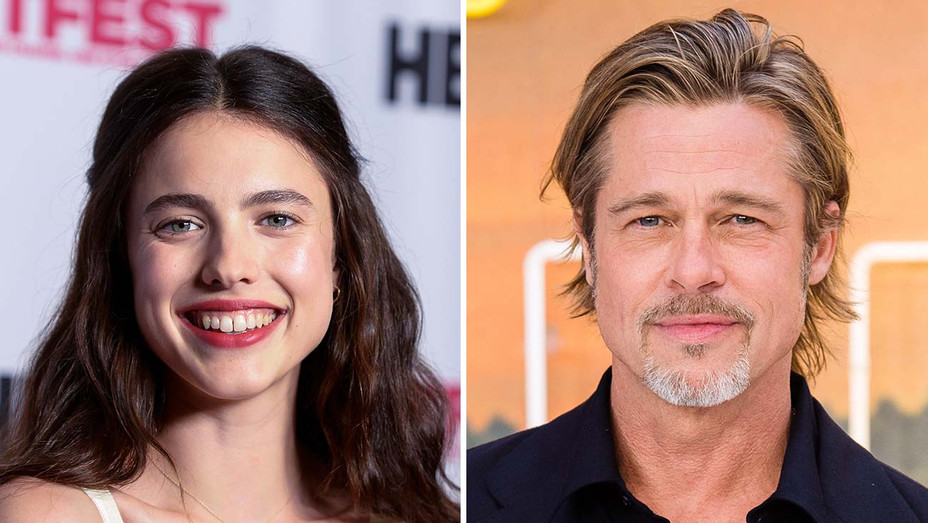 Margaret Qualley_Brad Pitt_Split - Getty - H 2019