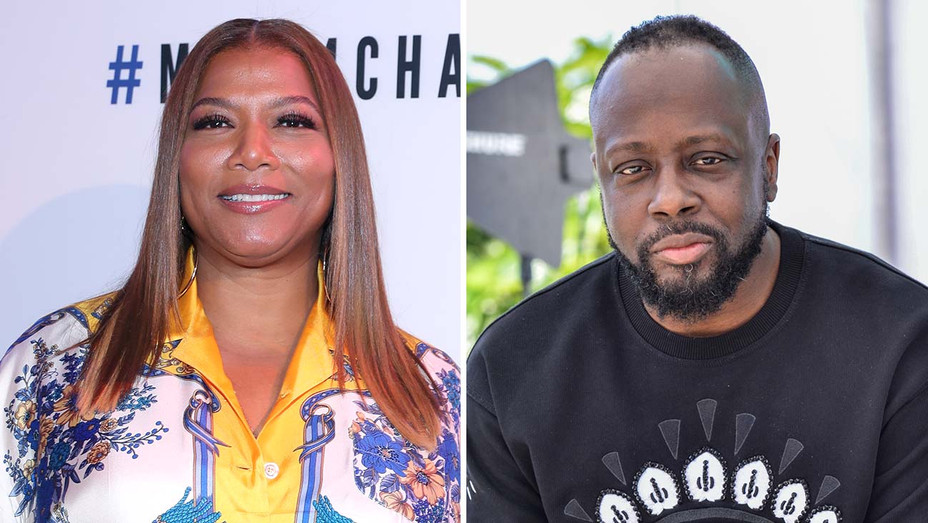 Queen Latifah and Wyclef Jean -split-Getty-H 2019