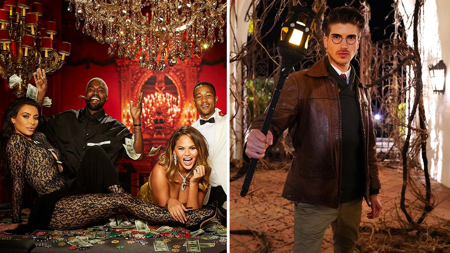 Scenario Studio and Escape the Night Pop Up in LA -John-Chris-Kim-Kanye-Joey-Graceffa - Split-H 2019