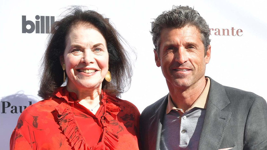 Sherry Lansing and Patrick Dempsey - Getty - H 2019