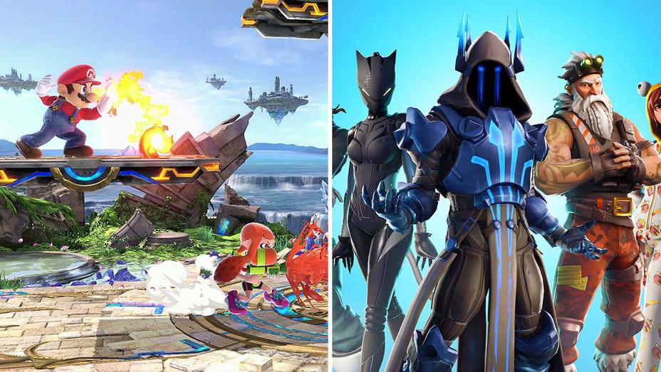 Super Smash Bros Ultimate Fortnite Split - Publicity - H 2019