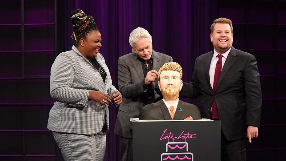 The Late Late Show CBS-Nicole Byer, Michael Douglas and James Corden-Publicity Still-H 2019
