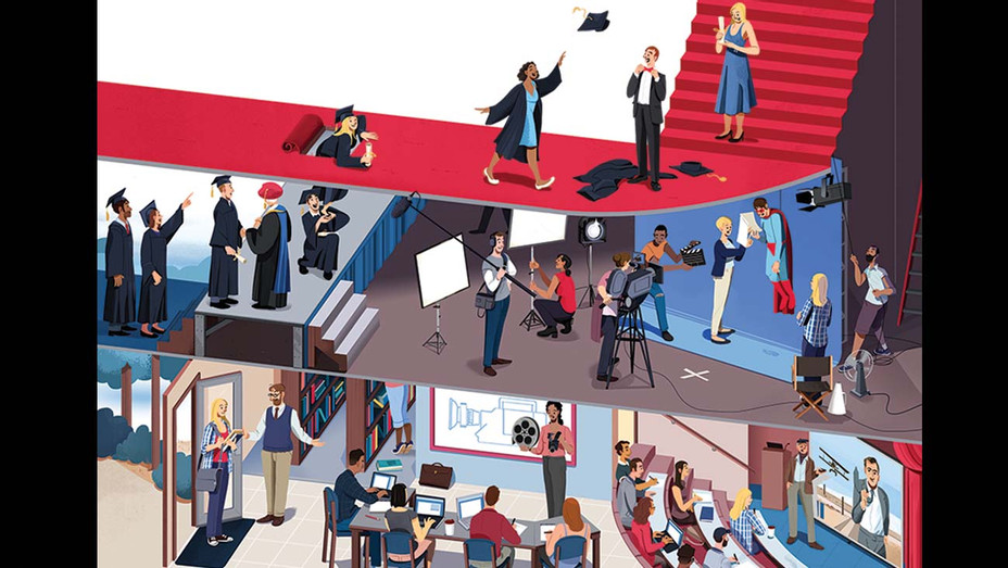 THR-Top 25 Film Schools-Illustration by Nathan Hackett-H 2019