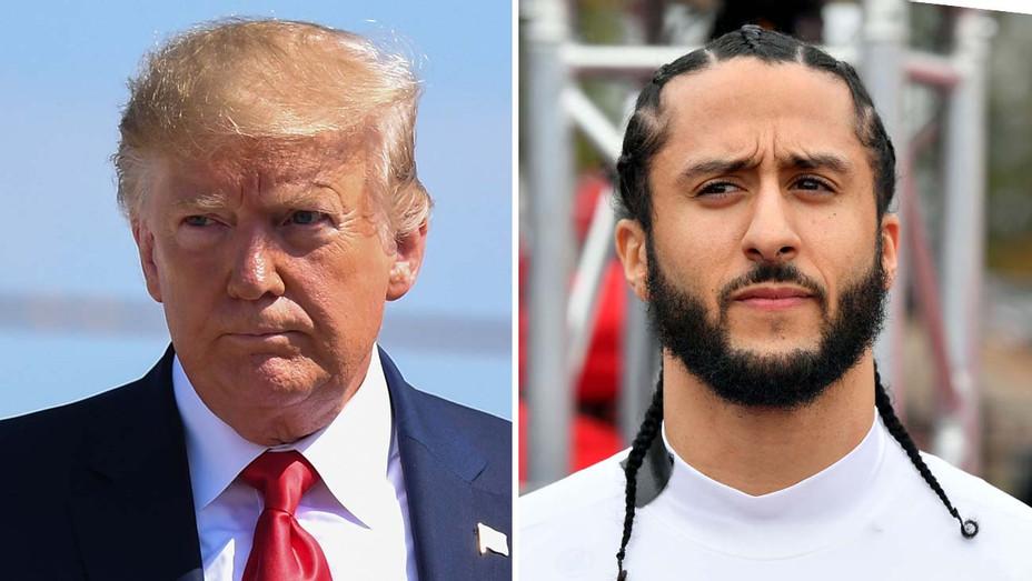 Trump Kaepernick Split Serious - Getty - H 2019