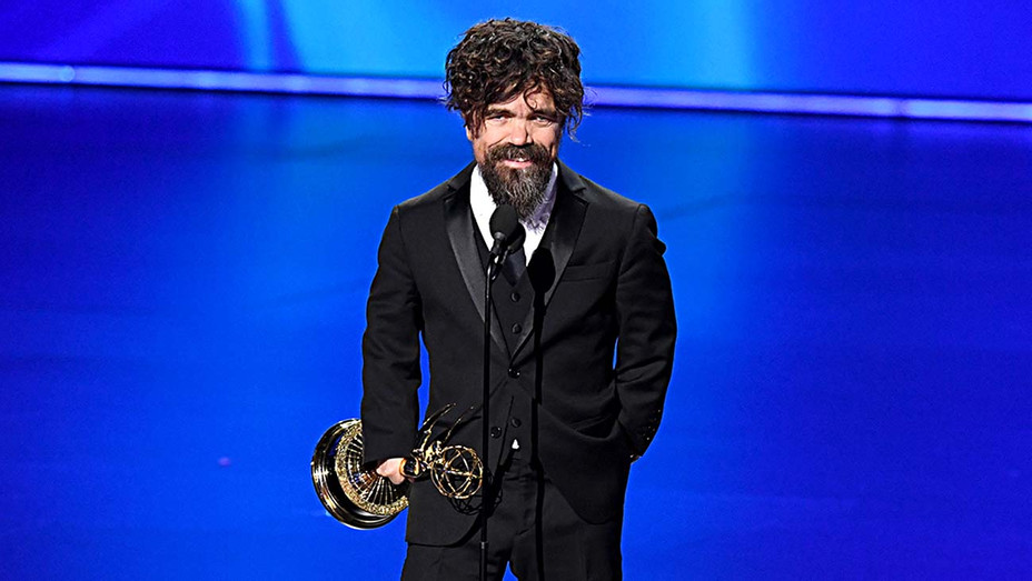 Peter Dinklage accepts the Outstanding Supporting Actor in a Drama Series award -2- Getty- H 2019