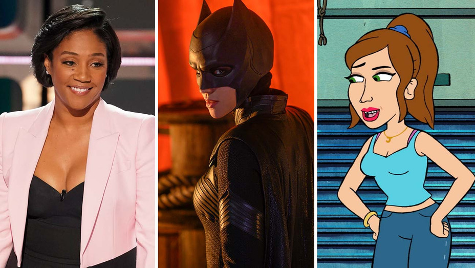 Tiffany Haddish from Kids Say the Darndest Things (ABC), Ruby Rose in Batwoman (CW) and Bless the Harts (Fox)-Split-H 2019