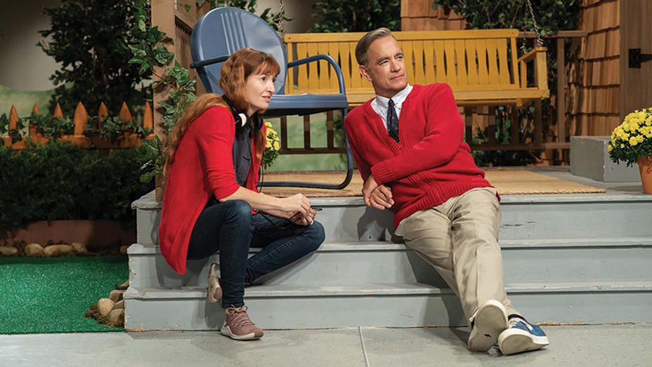 Marielle Heller Tom Hanks on 'A Beautiful Day in the Neighborhood' set — Publicity — H 2019
