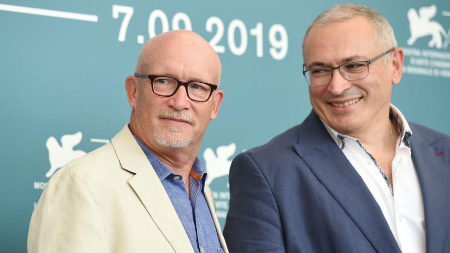 Alex Gibney and Mikhail Khodorkovsky at Venice premiere of 'Citizen K'