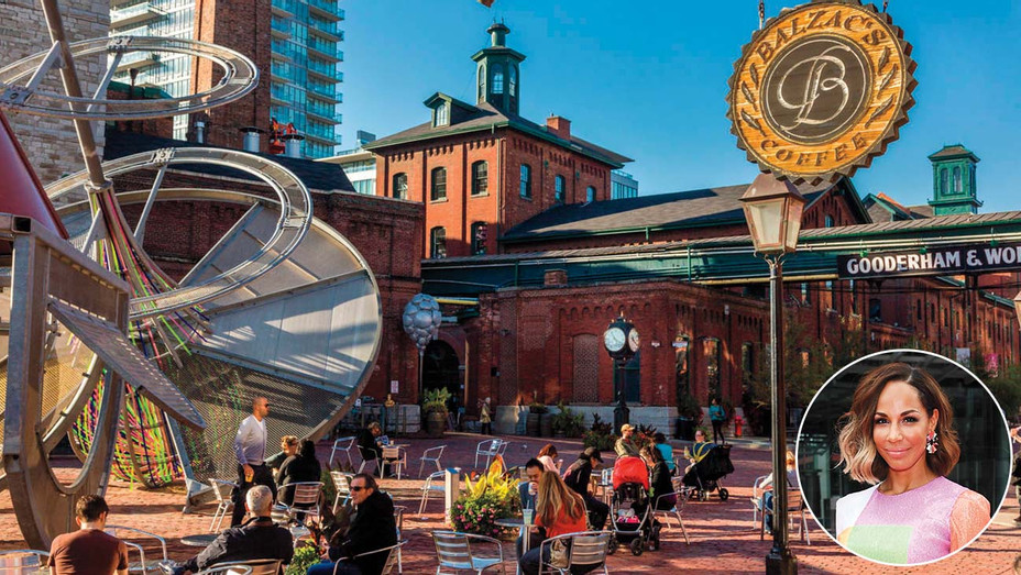 ONE TIME USE -Distillery District and inset Amanda Brugel - Alamy Stock Photo - Getty-H 2019
