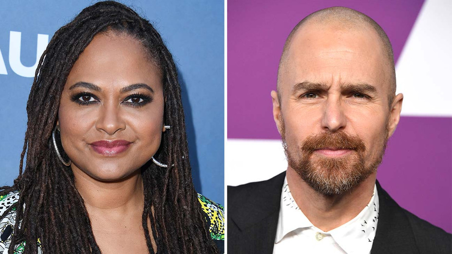 Ava DuVernay and Sam Rockwell -Split-Getty-H 2019