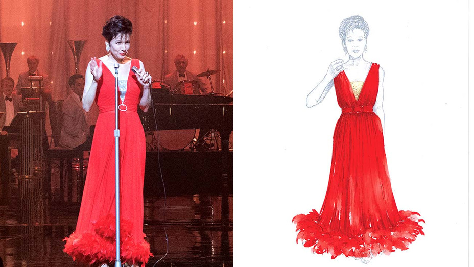 COSTUMES - Renée Zellweger as Judy Garland in JUDY- Publicity sketch -Split
