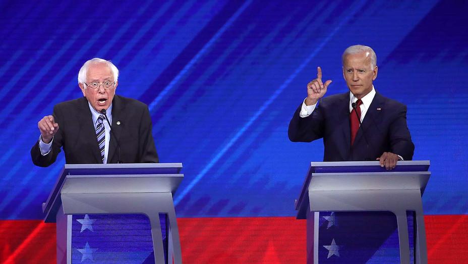 Democratic Debate_9-12_Bernie Sanders_Joe Biden - Getty - H 2019