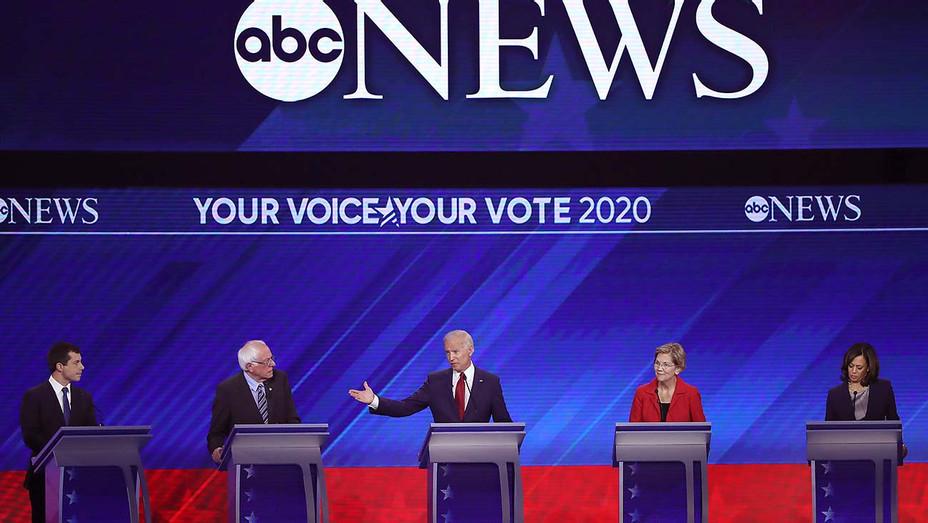 Democratic Debate_9-12_Pete Buttigieg_Bernie Sanders_Joe Biden_Elizabeth Warren_Kamala Harris - Getty - H 2019