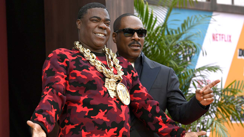 "Eddie Murphy, Tracy Morgan at LA premiere of Netflix's ""Dolemite Is My Name"" — Getty — H 2019"
