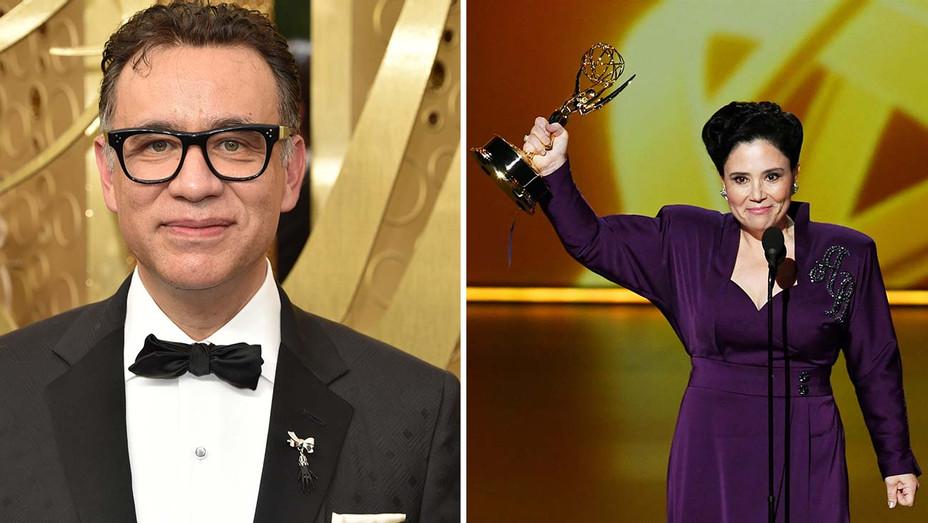 Lapel Pin Brooch Emmys Split Main - Getty - H 2019