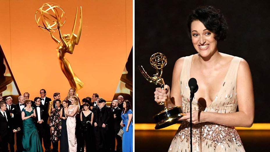 Game of Thrones Cast- Phoebe Waller-Bridge- Emmy winners 2019 - Getty - Split - H 2019