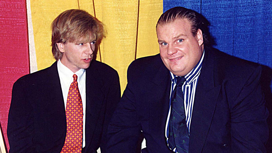David Spade and Chris Farley during 1995 ShoWest in Las Vegas- Getty-H 2019