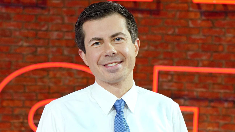 Pete Buttigieg is seen arriving at Telemundo Center on May 20, 2019 - Getty-H 2019