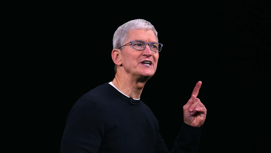 Apple CEO Tim Cook speaks on-stage during a product launch event at Apple's headquarters in Cupertino - Getty-H 2019